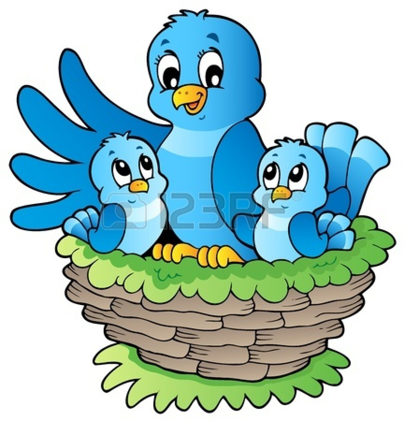 1296x1350 Baby Birds In Nest Clipart