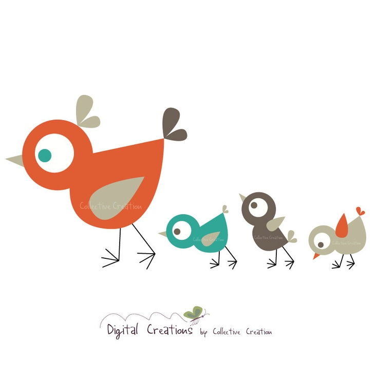736x736 Bird Clipart Mother And Baby