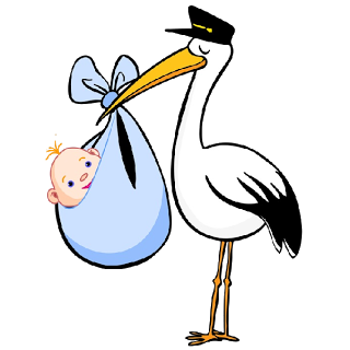 320x320 Stork With Baby Cartoon Bird Images.all Stork Images Are Png