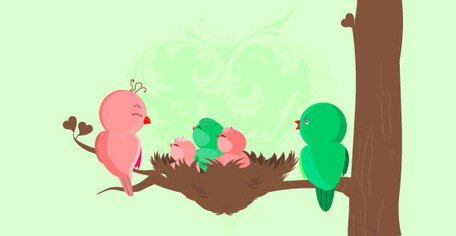 456x236 Baby Bird Clip Art, Vector Baby Bird