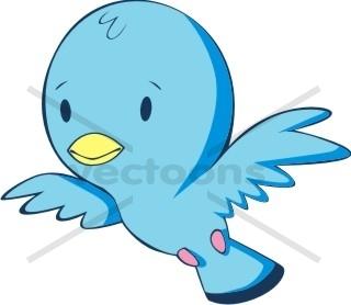 320x278 Baby Blue Bird Flying