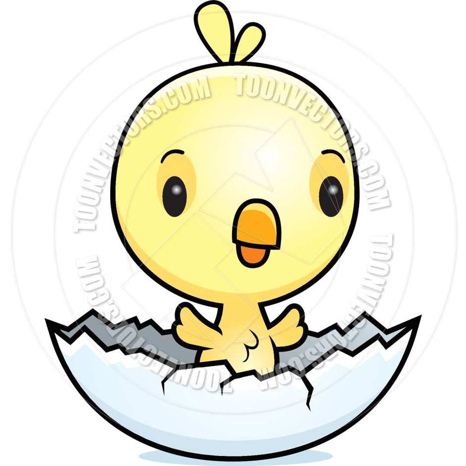 940x940 Cartoon Baby Bird Chick Hatching By Cory Thoman Toon Vectors Eps
