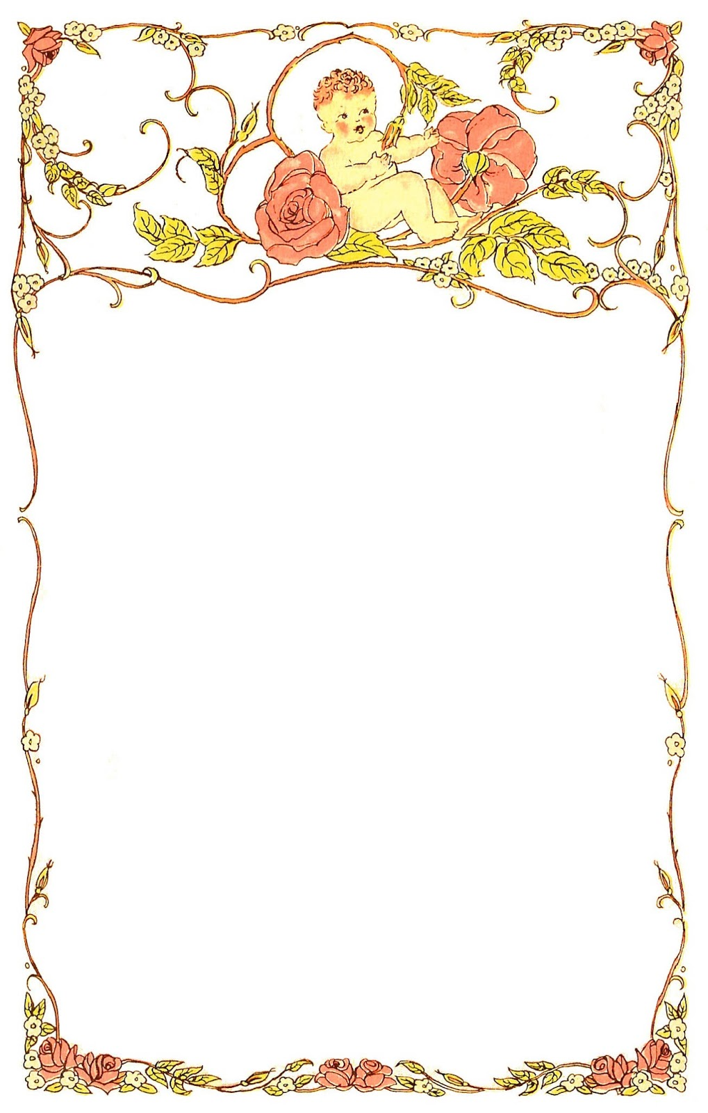 picture regarding Free Printable Baby Borders for Paper named totally free printable youngster borders -