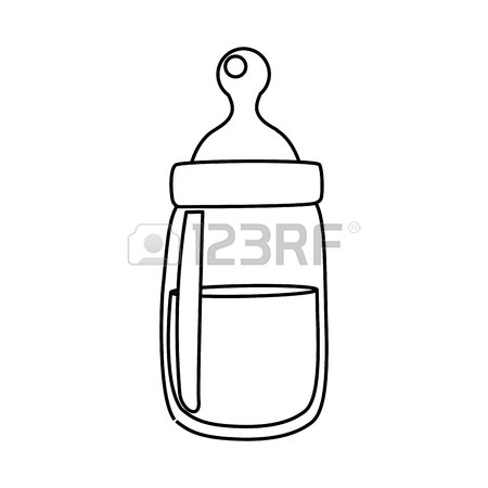 450x450 Baby Feeding Bottle Icon Vector Illustration Graphic Design