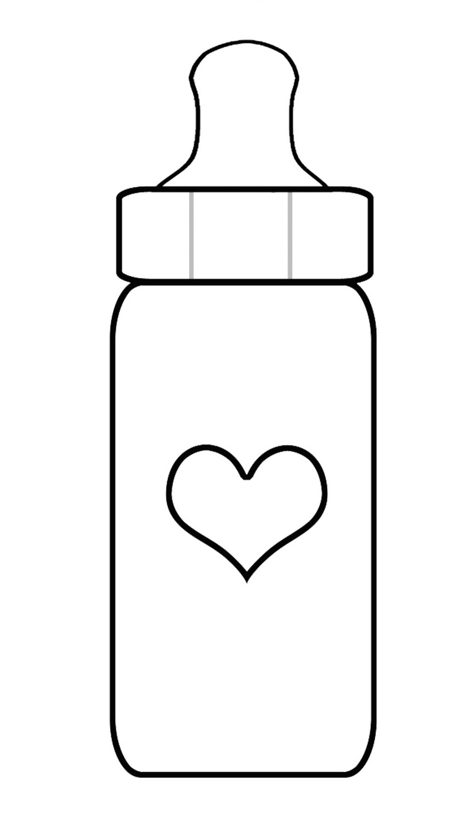 906x1600 Best Photos Of Baby Bottle Outline Printables