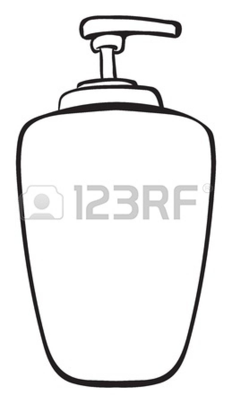 777x1350 Clip Art Black And White Shampoo Clipart