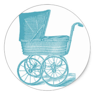 324x324 Baby Carriage Stickers Zazzle