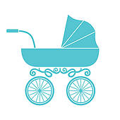 170x170 Baby Stroller Clipart