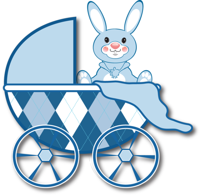 640x625 Carriage Clipart Baby Boy
