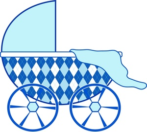 300x270 Carriage Clipart Baby Shower