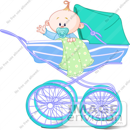 450x450 Clip Art Illustration Of A Waving Baby Boy With A Blanket