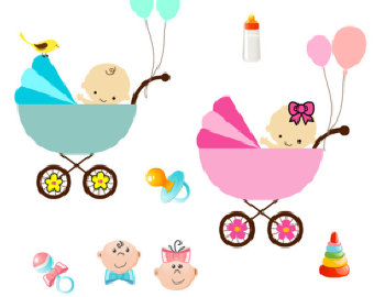 340x270 Girl Clipart Baby Carriage