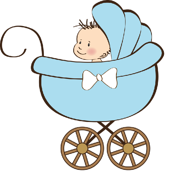 600x600 Baby Boy Carriage