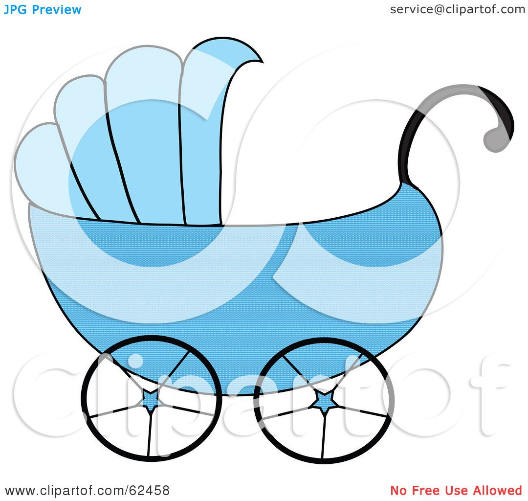 1080x1024 Royalty Free (Rf) Clipart Illustration Of A Blue Boy Baby Carriage