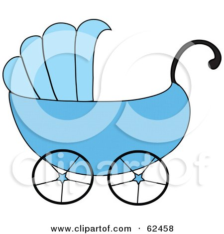 450x470 Royalty Free Vector Clip Art Illustration Of A Pink Baby Carriage