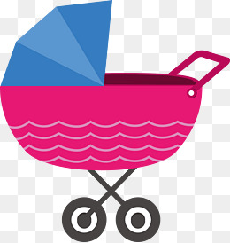 260x274 Cute Baby Carriage, Boy, Girl, Bow Png And Vector For Free Download
