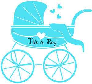 300x275 Baby Boy Shower Clip Art