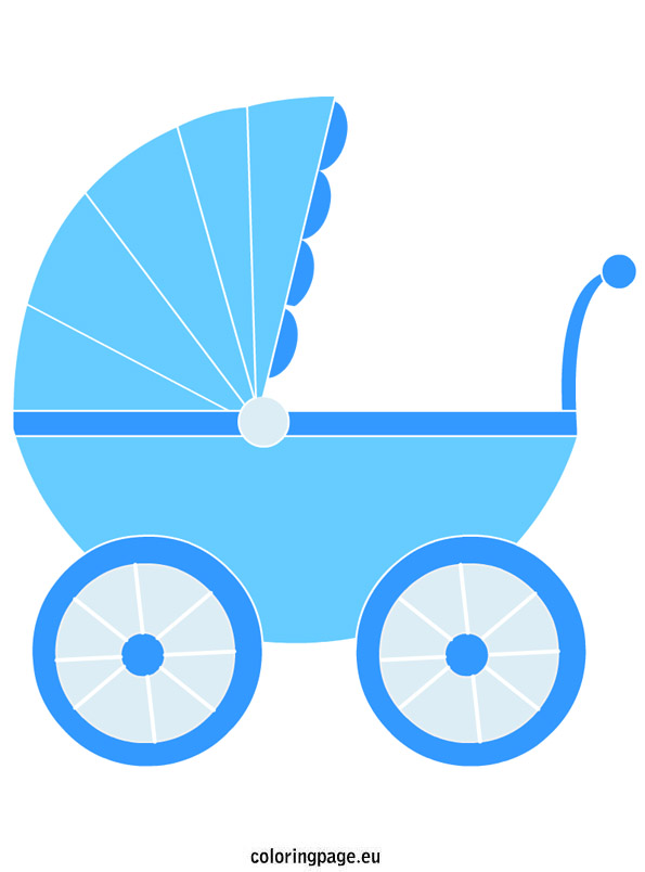 595x804 Baby Carriage Clipart
