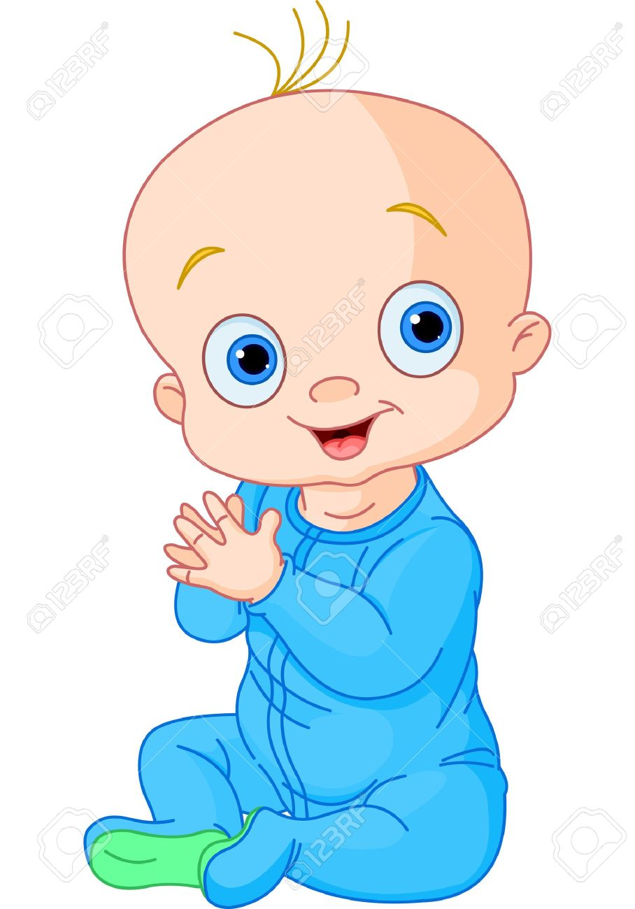 908x1300 Illustration Of Cute Baby Boy Clapping Hands Royalty Free Cliparts