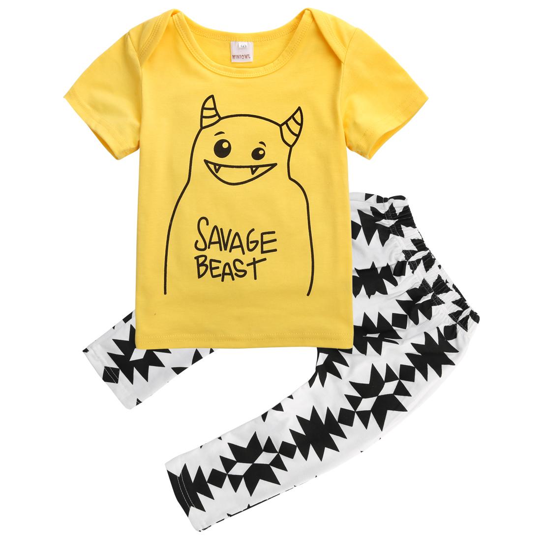 1100x1100 Little Monster Children Clothing Set Toddler Infant Kids Baby Boy