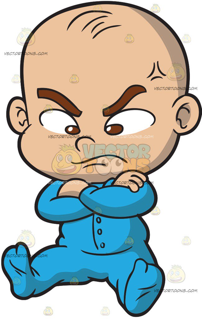 649x1024 An Angry Baby Boy Cartoon Clipart