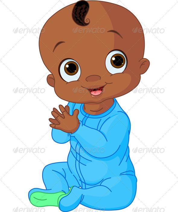 590x702 Baby Boy Clapping Hands African American Art, American Art