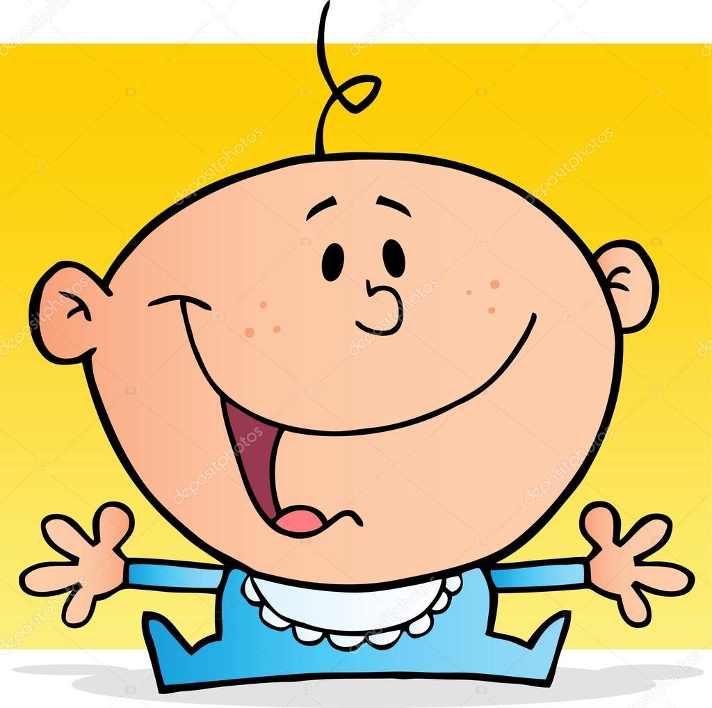 1024x1018 Happy Baby Boy Cartoon Character Stock Photo Hittoon