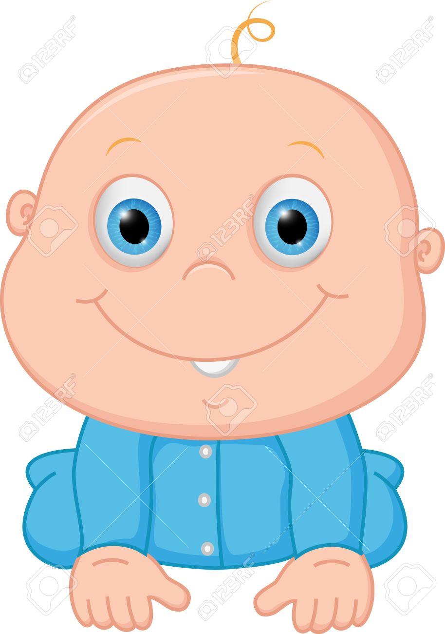 914x1300 Happy Baby Boy Cartoon Royalty Free Cliparts, Vectors, And Stock