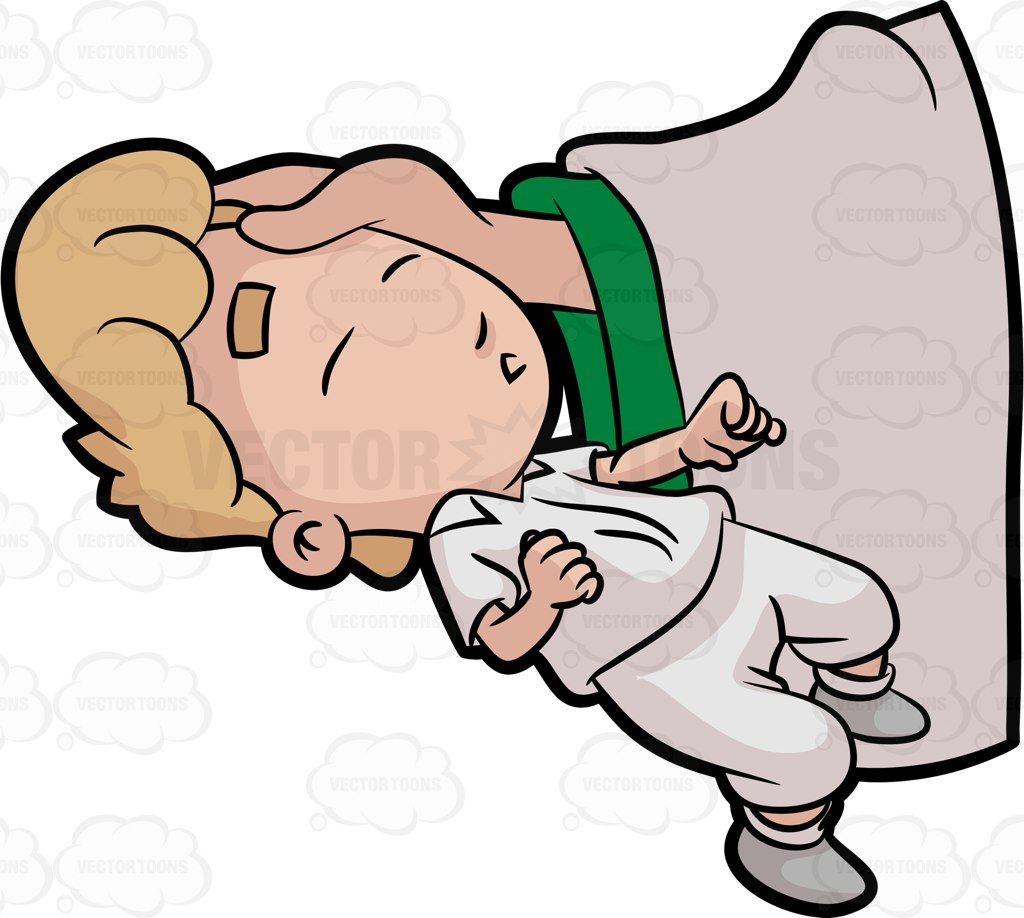 1024x918 A Sleeping Baby Boy Being Anointed By A Priest Cartoon Clipart