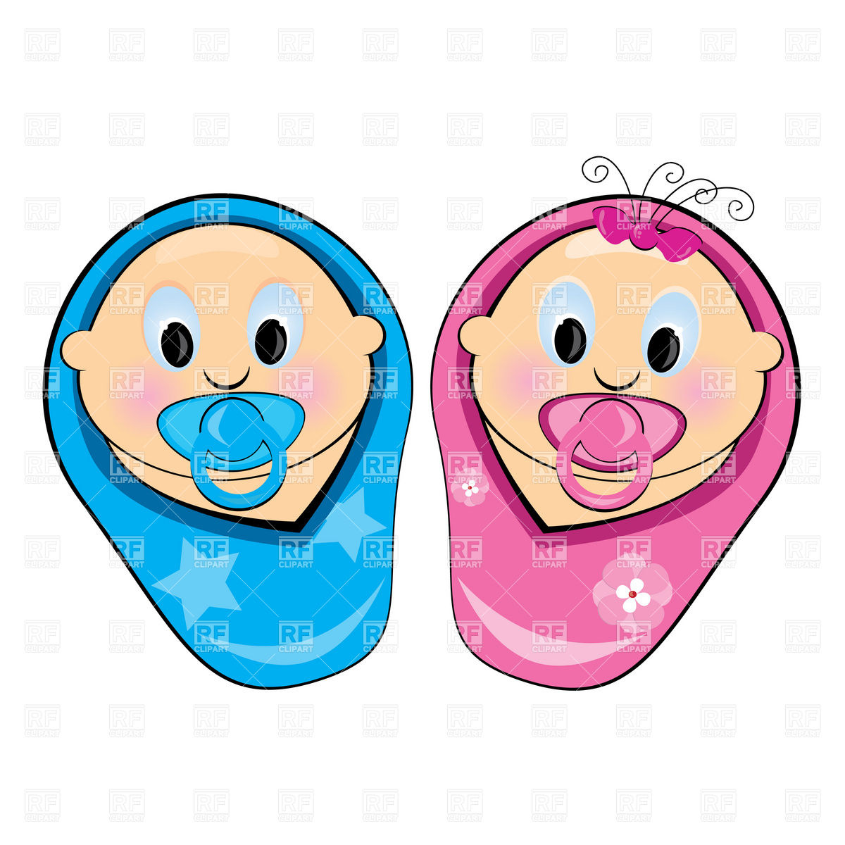 1200x1200 Baby Boy And Girl Royalty Free Vector Clip Art Image