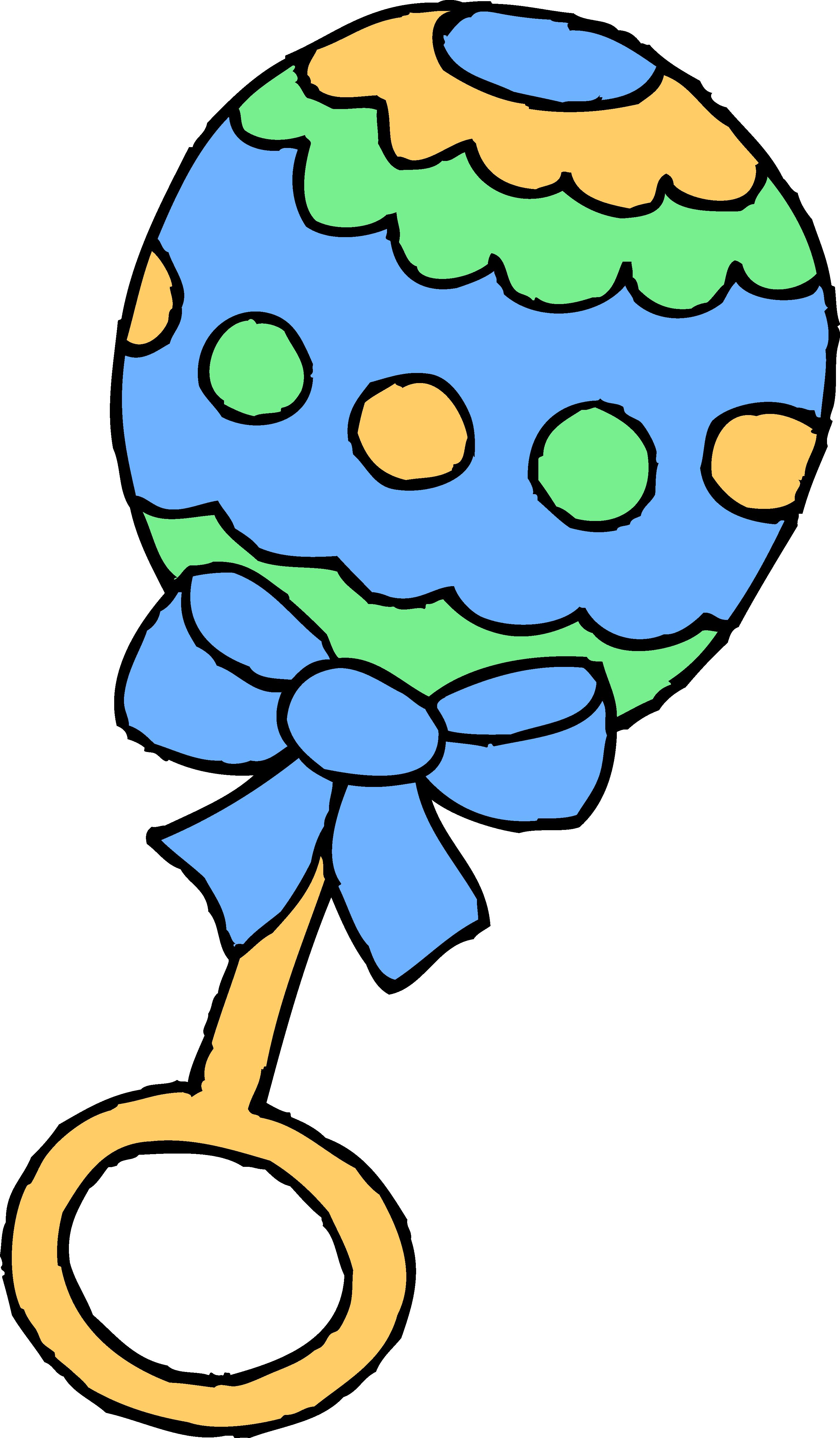 2913x4985 Blue Baby Boy Rattle