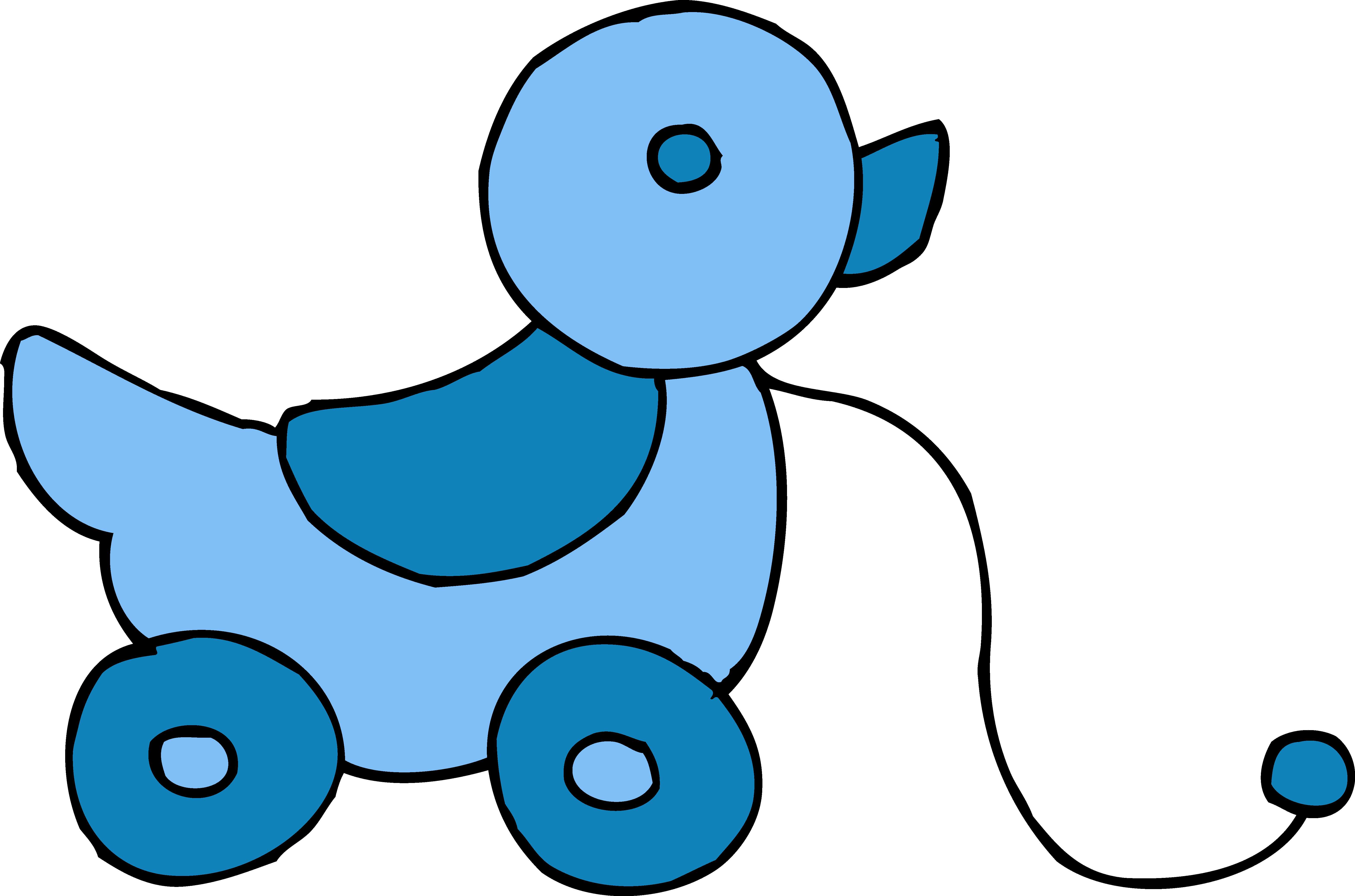 6279x4154 Blue Clipart Baby Toy