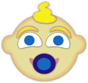 340x321 Baby Boy Face Clip Art