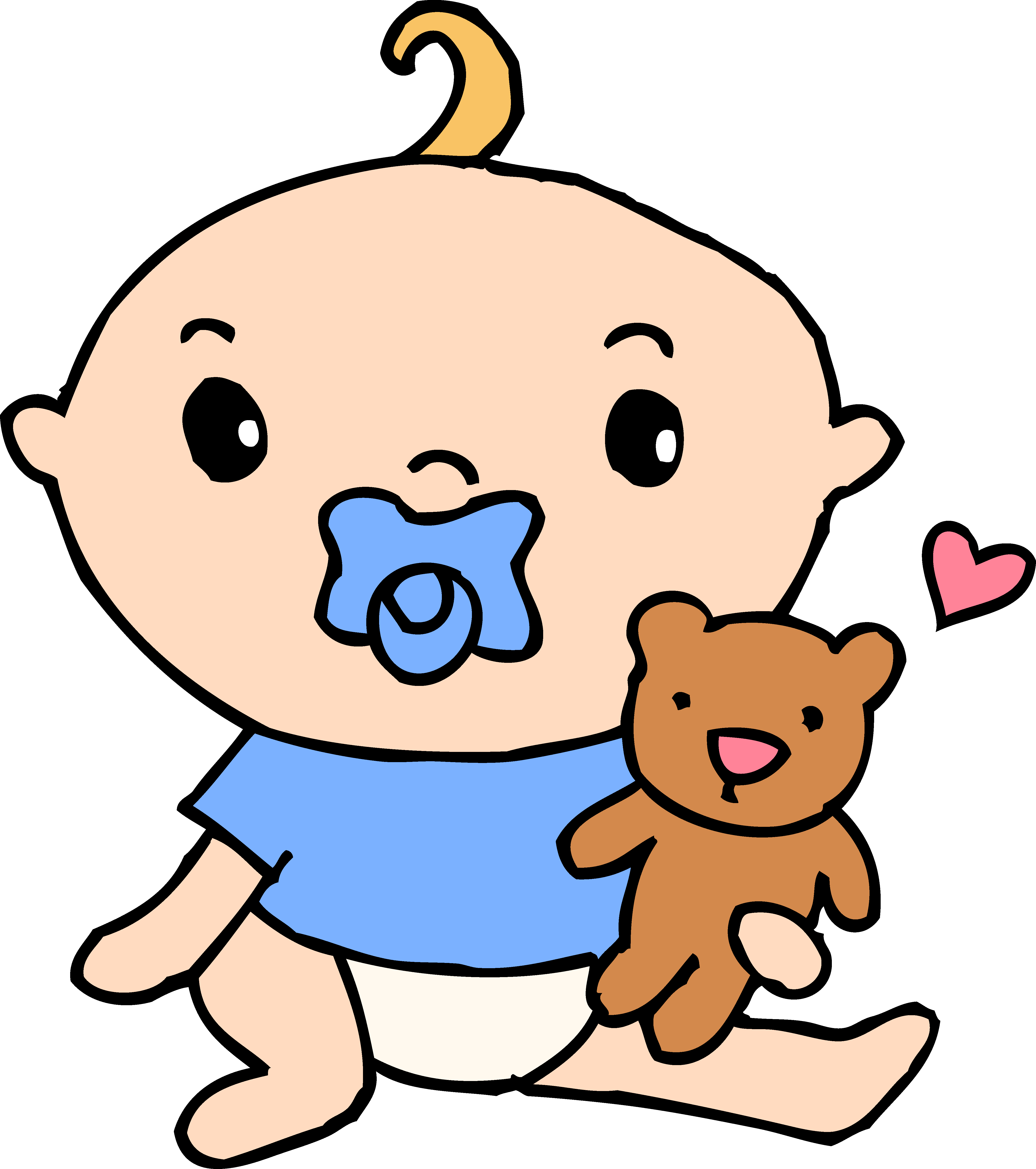4755x5367 Baby Boy With Pacifier And Teddy