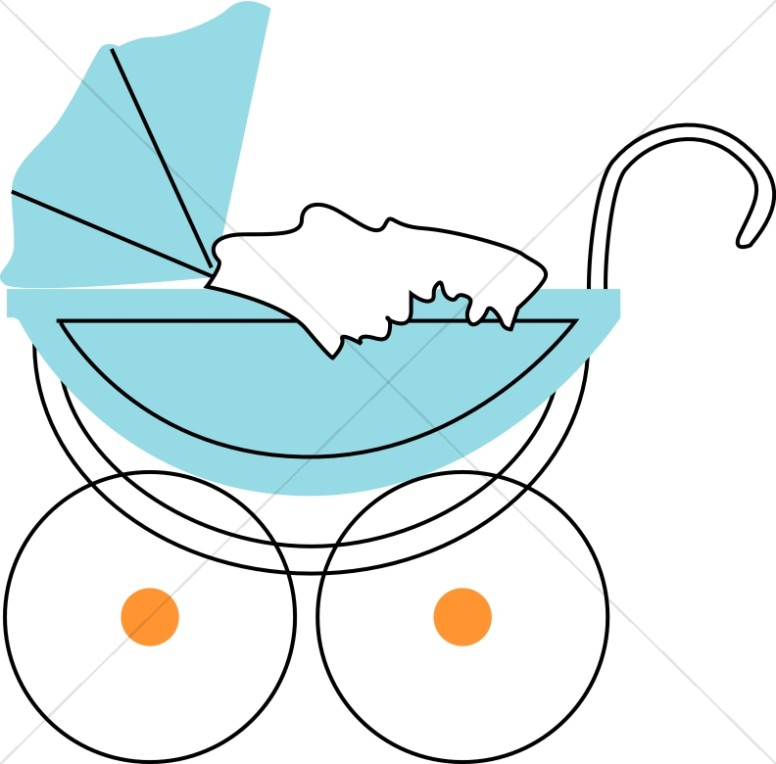 776x764 Baby Girl Buggy Religious Baby Clipart