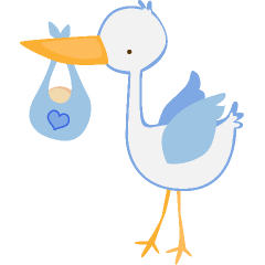240x240 Baby Boy Stork Clip Art Clipart