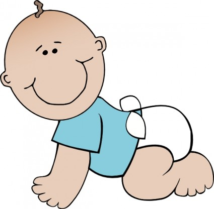 425x416 Free Baby Boy Clipart Image