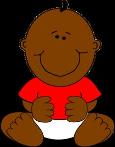 234x297 Brown Baby Boy Clip Art