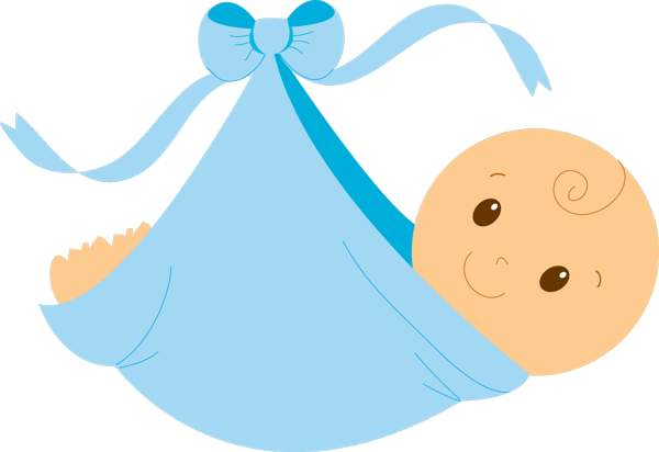 600x412 Swaddled Baby Boy Free Clip Art Clipartcow