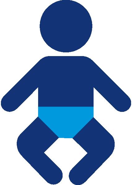 426x597 Blue Baby Boy Silhouette Clip Art