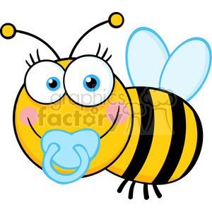 300x300 Royalty Free 5609 Royalty Free Clip Art Baby Boy Bee Cartoon