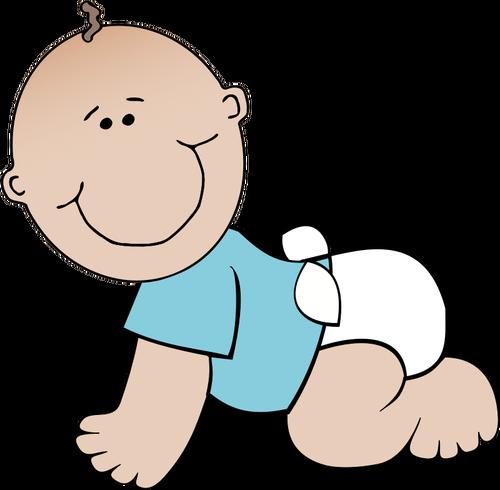 500x490 Baby Boy Crawling Vector Image Public Domain Vectors