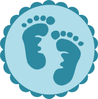 192x194 Baby Footprints Cricut Svg Files Babies, Baby