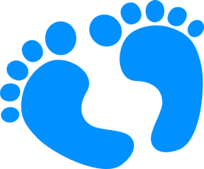 297x246 Blue Baby Feet Clip Art