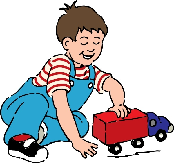 600x561 Boy Playing With Toy Truck Clip Art Free Vector In Open Office