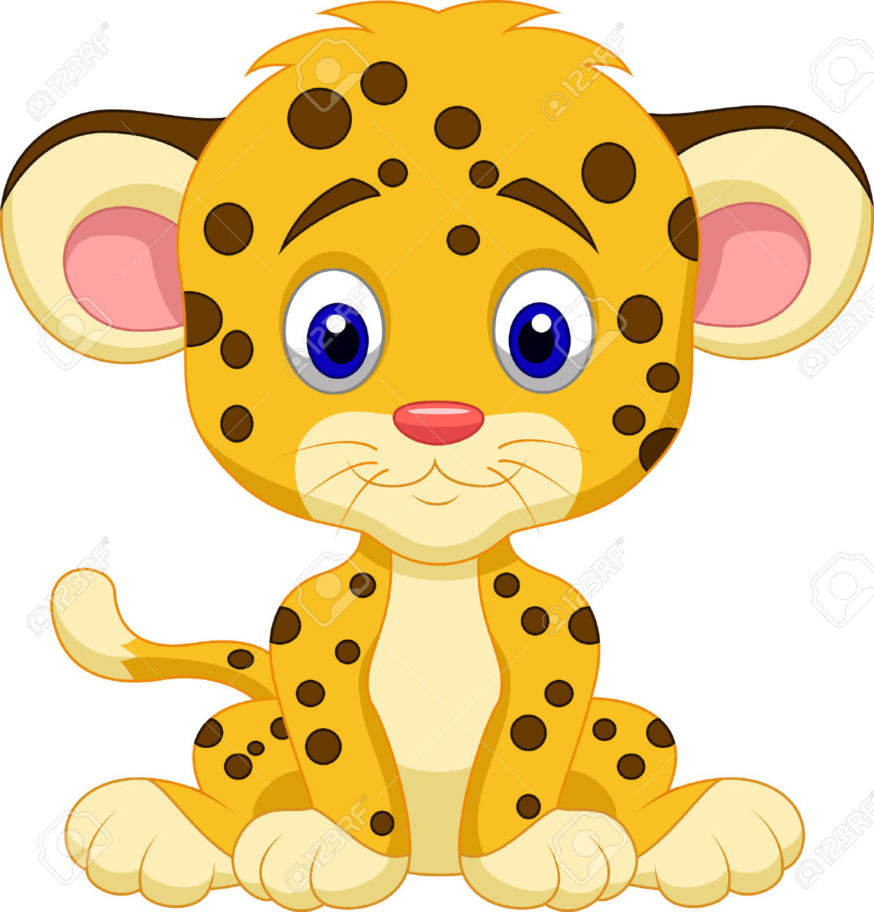 1247x1300 Adorable Clipart Baby Cheetah