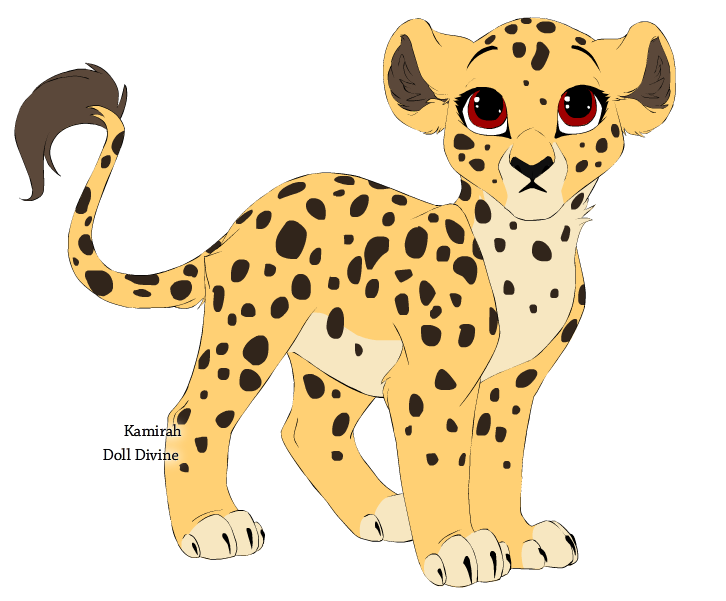 726x601 Cheetah Clipart Anime Baby