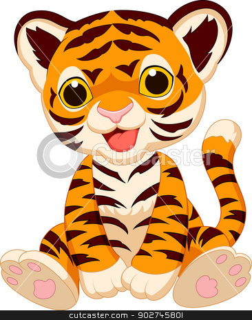 366x464 Cute Cartoon Cheetah Cute Tiger Cartoon Stock Vector Clipart