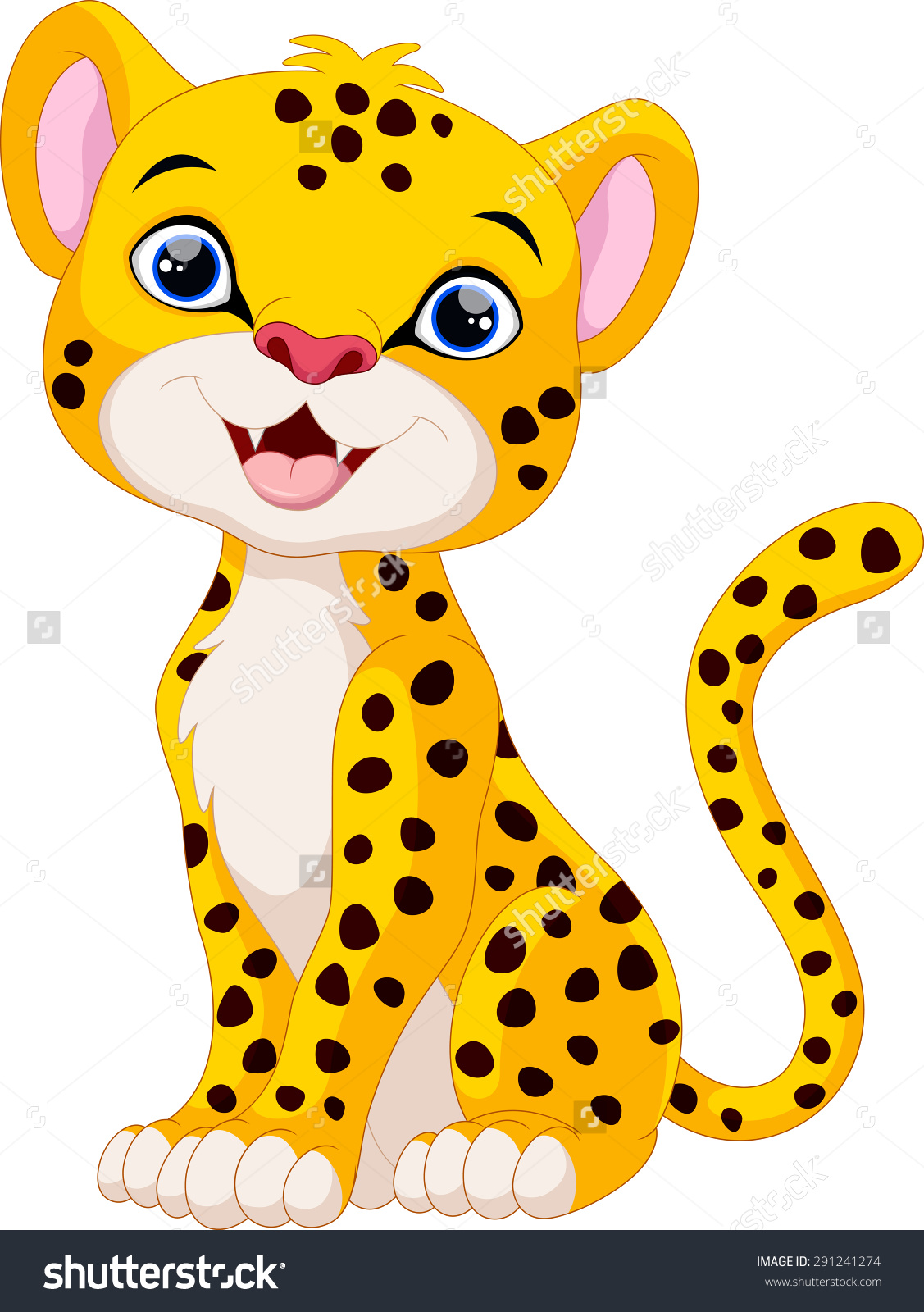 Baby Cheetah Clipart | Free download best Baby Cheetah Clipart on ... for Clipart Leopard Cute  83fiz