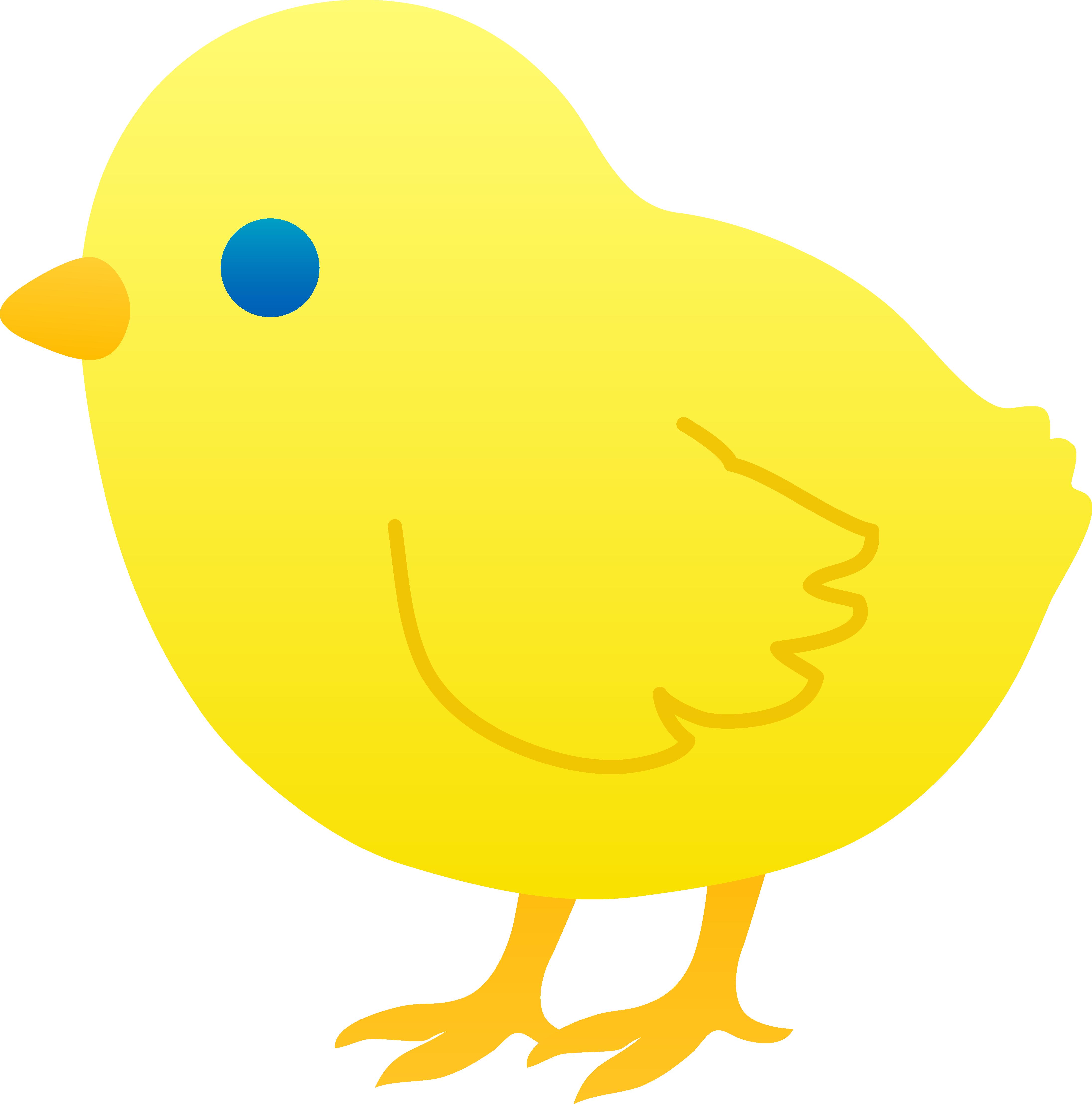 4379x4429 Cute Clipart Baby Chicken